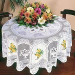 Toalha de mesa redonda rendas